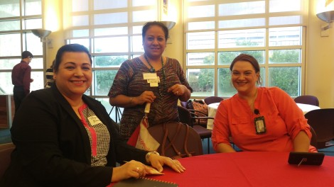 Manager, Virginia Elizondo; Outreach Worker, Rosa Decou; Program Specialist, Lia Oprea